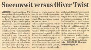 Sneeuwwit versus Oliver Twist