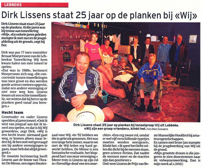 Dirk Lissens staat 25 jaar op de planken bij Wij